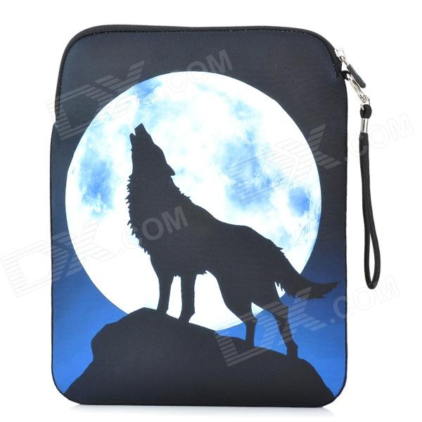DY5084 Wolf Pattern Soft Neoprene Waterproof Sleeve Bag for Ipad 2 / 3 / 4 + Mini Ipad - Black