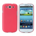Protective Plastic Back Case for Samsung Galaxy S3 i9300 - Red