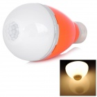 E27 5W 460lm 3500K Warm White Light LED Infrared Body Induction Lamp Bulb - Orange
