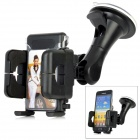 LSON 026 Retractable Car Mount Holder w/ Suction Cup for Cell Phone - Black