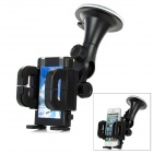 LSON 029 Retractable Car Mount Holder w/ Suction Cup for Cell Phone - Black