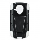 Protective Detachable Silicone + Plastic Back Case Stand for Samsung i8190 Galaxy S3 Mini - Black