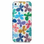 BASEUS ROAPIPH5-BY Butterfly Flower Pattern Plastic Back Case for Iphone 5 - Multicolored