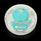 "1.0"" LCD 3 Compartments Medicine Box Timer - Light Grey + Green"