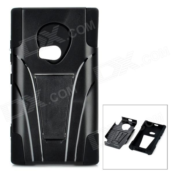 Cool Protective Plastic Back Case w/ Stand for Nokia Lumia 920 - Black