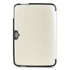 Checked Pattern Protective PU Leather Case for Google Nexus 10 - Beige + Black