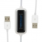 JP-EP01 USB PC To PC Data Link Cable - White + Black (150CM)