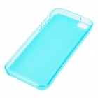 Simple Protective TPU Back Case w/ Water Resistant Bag for iPhone 5 - Blue