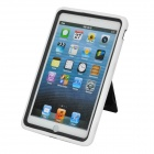 Protective Back Case w/ Holder for Ipad MINI - Black + White