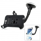 LSON Car Mount Holder w/ Suction Cup for Samsung N7100 - Black