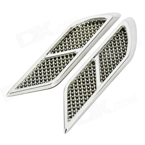 OB-515 Universal Air Flow Vent Hood Covers for Car - Silver (Pair) universal air flow vent hood covers for car silver pair