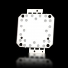 30W 3500lm 3050K Square LED Warm White Light Module (33-35V)