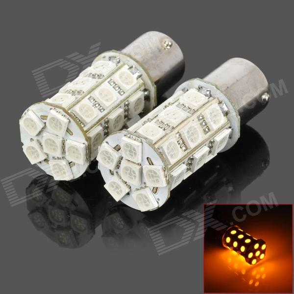 115650-27Y 1156 5W 300lm Yellow Light 27-SMD 5050 LED Car Turn Signal / Tail Lamp (DC 12V / 2 PCS)