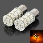 115650-27Y 1156 5W 300lm Luz Amarilla 27-SMD 5050 LED Car Turn Signal / Tail Lamp (DC 12V / PCS 2)