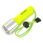 RAYSOON Cree XM-L T6 800lm 3-Mode White Diving Flashlight - Luminous Yellow + Silver (1 x 18650)