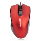 ZIPPY ZMS3510 Wired Optical Mouse - Red + Black