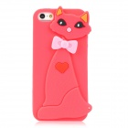 Civet Style Protective Silicone Back Case for Iphone 5 - Red