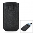 Protective Cord Pull PU Leather Case Pouch Bag for Samsung Galaxy S3 i9300 / i9250 - Black