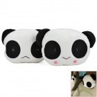 Cute Panda Stil PP Cotton Car Sofakissen Head Neck Pillow - White + Black (2 PCS)