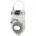 Retractable Steel Wire Lock w/ Password for Bicycle / Suitcase - White (1m-Length)