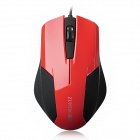 ZUNTUO ZT-103 USB Wired Optical Mouse - Deep Red + Black