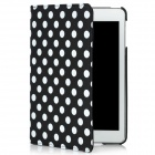 Polka Dot Pattern Protective Swivel Rotating PU Leather Case for Ipad MINI - Black + White