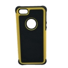Protective PC + Silicone Case w/ Hole for Iphone 5 - Yellow + Black