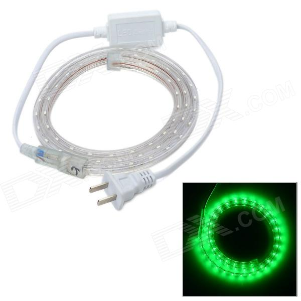 4.8W 240lm 60-SMD 3528 LED Green Light Holiday Decoration Strip (1M / 2-Flat-Pin Plug / 220V) power socket for 60 x smd 3528 led light strip white 2 flat pin plug ac 220v