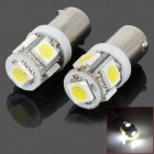 BA9S 1.5W 50lm 5-SMD 5050 LED White Light Car Interior / License Plate / Clearance Light (12V)