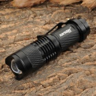 RAYSOON TD331 Cree XR-E Q5 280lm 3-Mode White Zooming Flashlight - Black (1 x 14500 / AA)