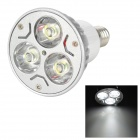 E14 3W 300lm 6000K 3-LED White Light Bulb - Silver (85~265V)