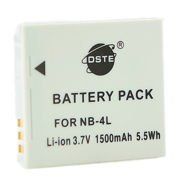 DSTE NB-4L Replacement 3.7V 1500mAh Battery for Cannon IXUS 110 / 120 / 130 / 115 / 220 - Grey фотоаппарат canon powershot sx730 hs silver 20 3 mp 1 2 3 max 5184x3888 40х zoom wi fi экран 3 300 г