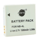 DSTE NB-4L Replacement 3.7V 1500mAh Battery for Cannon IXUS 110 / 120 / 130 / 115 / 220 - Grey