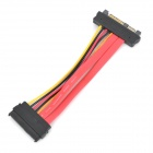 SFF-8482 SAS 29pin Male to Female Extension Cable - Red + Black (15cm)