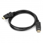 GreenConnection 180' Rotation 3D 1080p FHD HDMI V1.4 Male to Male Connection Cable - Black (100cm)