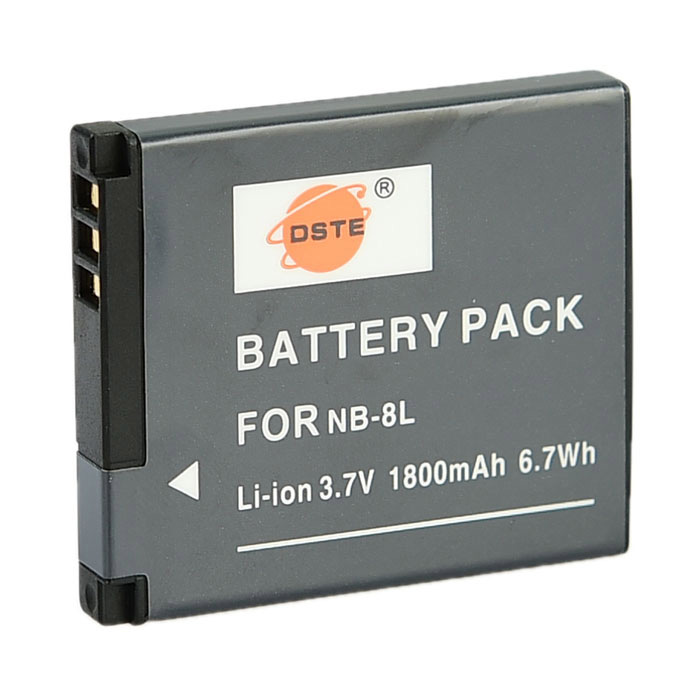 DSTE NB-8L3.7V 1000mAh Li-ion Battery for Canon PowerShot / A3200 / A2200 + More - Dark Grey