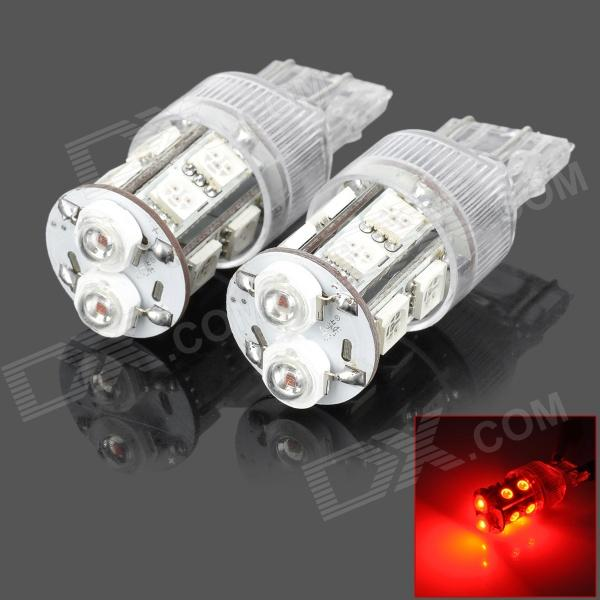 PointPurple D1312R T20 5W 80lm Red Light 12-LED Car Brake Light (DC 12V / 2PCS)