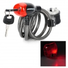 GIANT K7350033 Bike Bicycle Security Cable Lock Set w/ LED - Black (150cm-Length)