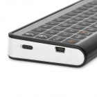 Mini 3-in-1 Keyboard + Tracking Ball Mouse + IR remote Controller for Google TV - Black + Silver