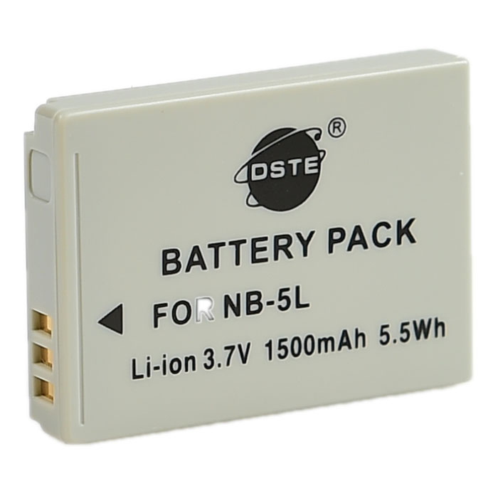DSTE NB-5L Replacement 3.7V 1500mAh Battery for Canon IXUS 990 / S110 / SX220 / SX230 - Grey надстройка васко соло 013 1303 к столу соло 021