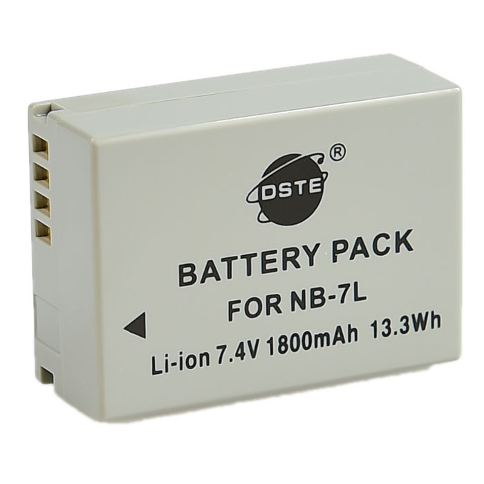 DSTE NB-7L Replacement 7.4V 1800mAh Battery for Canon G10 / G11 - G12 / SX30 IS - Grey ems dhl fast shipping 230v 3000w heat element for for heat gun handheld hot air plastic welder gun plastic welder accessories