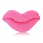 Sexy Lip Shape Short Plush + PP Cotton Back Cushion - Pink