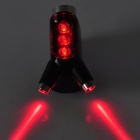 LANDIORDS BLM6550 3-Mode 3-LED Red Light Laser Bicycle Tail Lamp - Black + Red