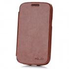 KALAIDENG Protective PU Leather Case for Samsung Galaxy Trend i699 - Brown