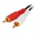 2-RCA Male to 2-RCA Male Connection Cable - Black + White+Red (260cm)