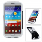Protective Back Case w/ Stand for Samsung Galaxy Note II N7100 - Black + White