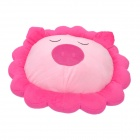 Sunflower Shape Cartoon Pig Plush Office Cushion / Lumbar Pillow - Pink