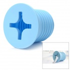 Creative Big Screw Shape Tissue Paper Holder Dispenser Box - Blue