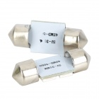 SJ50-31-4P Festoon 31mm 0.7W 90LM 4-SMD 5050 Pink Light Reading Coche / Interiores / Puerta Lámparas (DC 12V)