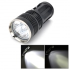 SKY RAY KING Cree XM-L U2 1160lm 3-Mode White 3-LED Flashlight - Black (1~4 x 18650)